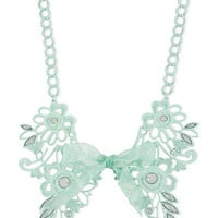 Haskell Necklace, Green Filigree Ribbon Frontal Necklace - All Fashion Jewelry - Jewelry & Watches - Macy's