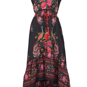 Cupshe So Gifted Vintage Printing Maxi Dress