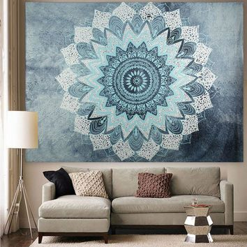 Indian Bohemian Mandala Tapestry Wall Hanging Sandy Beach Picnic Throw Rug Blanket Camping Tent Travel Mattress Sleeping Pad SS2