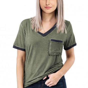 Army Green Pol Me Closer Top