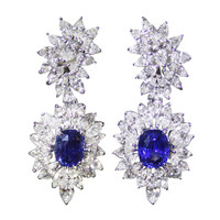 Sapphire Diamond Earrings