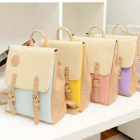 SWEET LOLITA MULTI-COLOR FAUX LEATHER BACKPACK from Storeunic