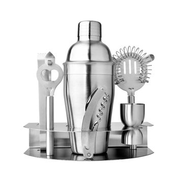 7 pcs/set Stainless Steel Cocktail Shaker Mixer Measure Cup Set Easy to Cocktail Kit Snow Grams Cup Bar Tools Incorporating