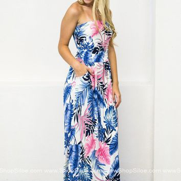 Tropical Palms Maxi Dress