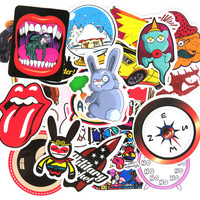 50 Pcs Stickers Funny Jdm Home Motorcycle Bicycle Laptop Phone Cartoon DIY Sticker Toy Number Skateboard  Luggage Vinyl Decal