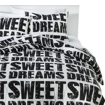 Sweet Dreams Comforter Set - Black/White