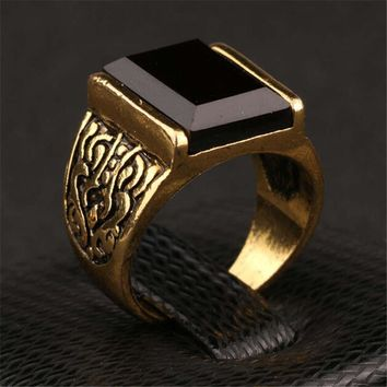 new hot vintage retro handmade men old gold ring womens lady fashion casual jewelry unique best gift girl rings 41 2