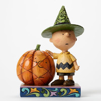 peanuts halloween charlie brown with pumpkin jim shore new with box