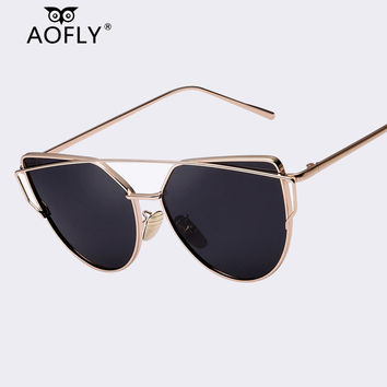 AOFLY Polarized Sunglasses Women Polaroid Sun Glasses With Box Cat Eye Ladies Sunglasses Outdoor Eyewear Brand Designer Oculos