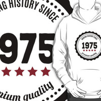 Making history since 1975 badge by JJFarquitectos