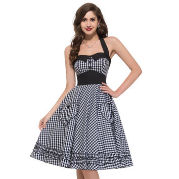 XXL XXXL Plus size Vintage dress Summer real photo brand New 2016 50s rockabilly dresses Full Circle Pinup vestidos backless