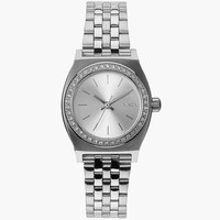 Nixon Small Time Teller Watch All Silver Crystal One Size For Women 25986314001