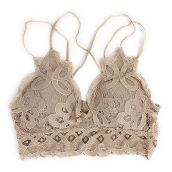 Anemone Lacey Light Taupe Bralette