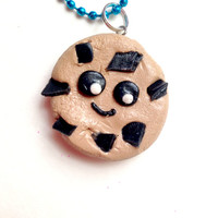 Chocolate Chip Cookie Kawaii Necklace//Polymer Clay//Cyber Monday//Stocking Stuffers//Christmas Gift Ideas