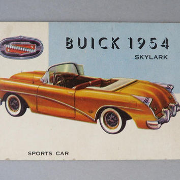TOPPS World on Wheels Card #170, 1954 Buick Skylark, Collectors Cards
