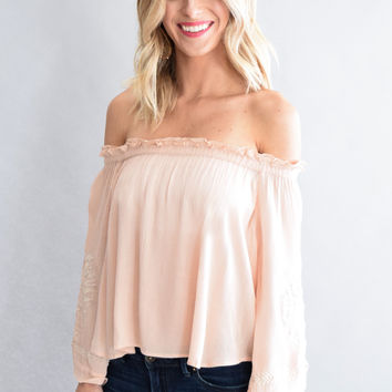 Lila Embroidery Top