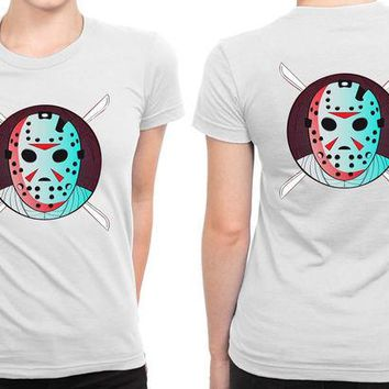 DCCK7H3 Horror Jason Voorhees B 2 Sided Womens T Shirt