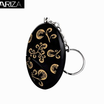 2017 hot-selling self defense personal alarm gold color printing  Emergency support keychain alarm