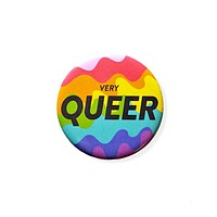 Very Queer Big Pinback Button