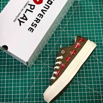 CDG PLAY x Converse Chuck Taylor Material OX Addict Vibram Low Sneakers - Best Online Sale