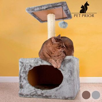 Cat Scratching Post with House