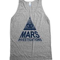 Mars Investigation (Vintage Tank)-Unisex Athletic Grey Tank