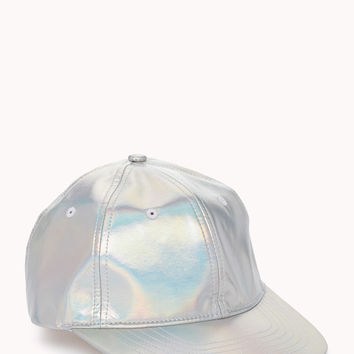 4cf67c69678 Futuristic Holographic Baseball Cap from Forever 21
