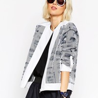 ASOS WHITE Printed Panel Jacket