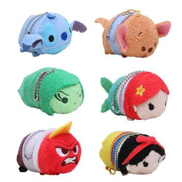 3.5inch Mini Tsum Tsum Plush Toy Doll Cute Screen Cleaner Plush Toy Juguetes Snow White Mermaid Duck Cinderella