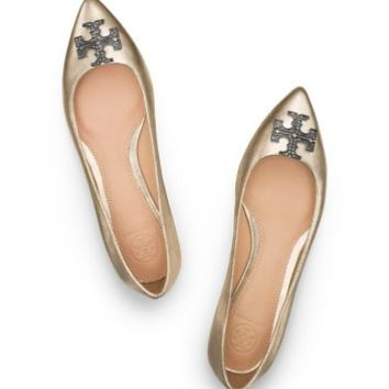 Tory Burch Kellen Metallic Flat
