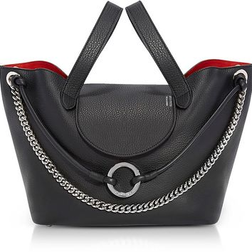 Meli Melo Black Linked Thela Medium Tote Bag