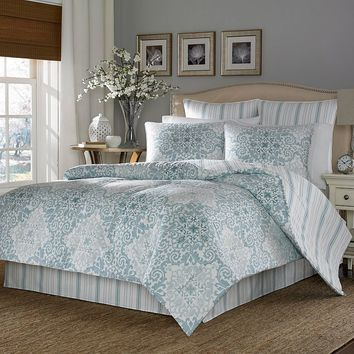Stone Cottage Valencia 3-pc. Reversible Duvet Cover Set (Blue)