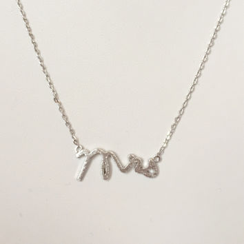 Mrs For The Bride Pendant Necklace In Silver