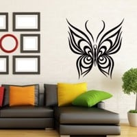 Wall Decals Butterfly Abstract Decal Vinyl Sticker Decal Home Decor Bedroom Interior Window Decals Living Room Art Murals Chu1392