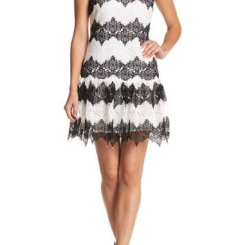 DCCKHB3 Betsey Johnson | Lace Drop Waist Dress