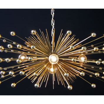 Beaded Urchin Chandelier Lighting with Five Lights