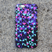 Geometric iPhone 6 s Case Triangle iPhone 6 Plus Case Violet iPhone 5S iPhone 5C iPhone 4S 4 Case Samsung Galxy S5 S4 Optical Illusion 04