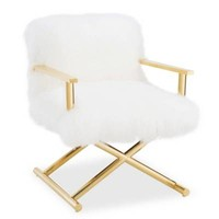 TOV Furniture Jodi Sheepskin Chair in White
