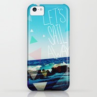 Let's Sail Away iPhone & iPod Case by Leah Flores Designs