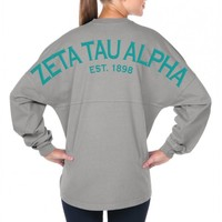 Zeta Tau Alpha Est. 1898 - Sorority Basics - Classic Spirit Football Jersey® Ze