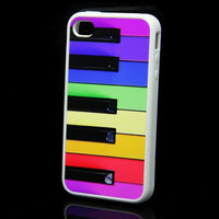 Rubber Case music piano keyboard case for iPhone 4 and iPhone 4s