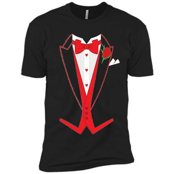 Valentine's Day Costume Red Bow Tie Tailcoat Tuxedo T-Shirt
