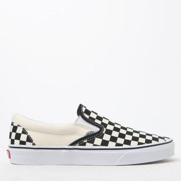 DCCKJH6 Vans Checkerboard Slip-On Shoes