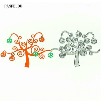 PANFELOU Pumpkin tree Scrapbooking DIY Halloween Embossing mould card paper die stencils punch Metal cuts dies cutting