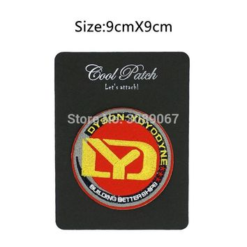 """One 3.5"""" Star Trek Dyson-Yoyodyne Corporation Patch TV Movie Series Fancy Embroidered Sew On Iron On Applique Badge"""