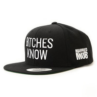 Married To The Mob Knowing Black Snapback Hat