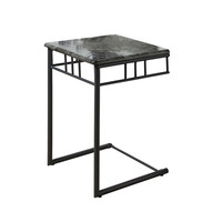 Grey Marble / Charcoal Metal Snack Table
