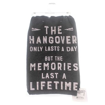 Home & Garden HANGOVER DISH TOWEL Fabric Memories Last Lifetime 31453