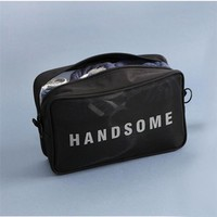 New Mesh Breathable Admission Package Wash makeup Cosmetic bag Pouch Change Three size underwear bag Bathroom travel organizer