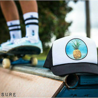 Aloha Underwater Pinapple Trucker Hat